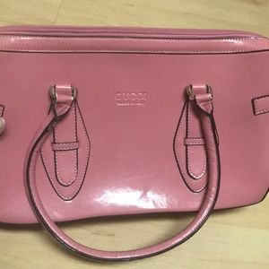 Pink leather Gucci Bag